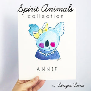 Spirit Animal Art Prints by Linzer Lane