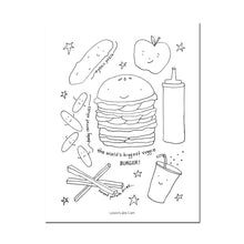 Load image into Gallery viewer, *Printable* I Love NYC Food Coloring Book
