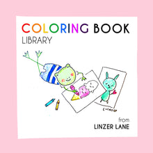 Load image into Gallery viewer, *Printable* Coloring Book Library
