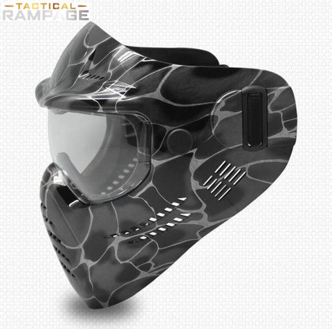 FACE MASK ANTI-FOG ADJUSTABLE BLACK / SILVER