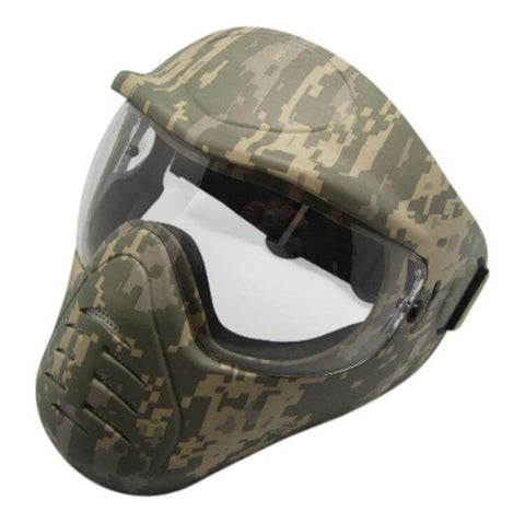 FACE MASK ANTI-FOG ADJUSTABLE CAMO