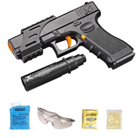 GLOCK 18 MAG FED MANUAL TOY PISTOL