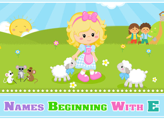 20 Classic Nursery Rhymes Names Beginning with E