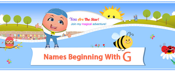 "Humpty's ""Off The Wall"" Nursery Rhymes Names Beginning with G"