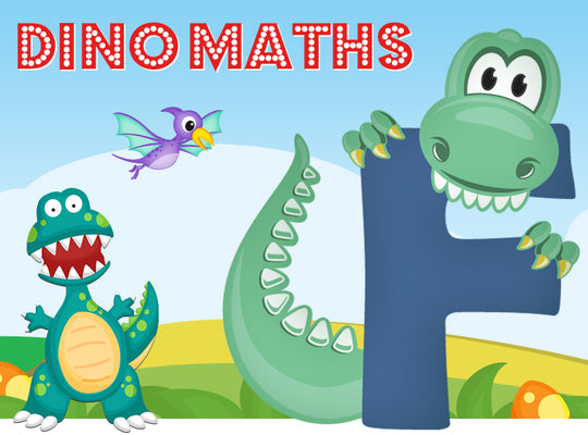 Dino-Math Times Table Activity Packs (Names beginning with F)