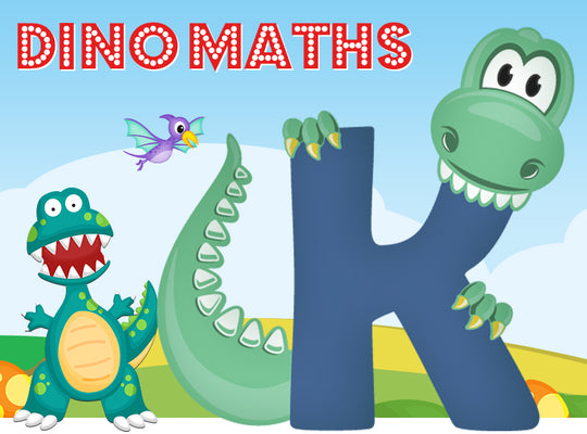 Dino-Math Times Table Activity Packs (Names beginning with K)