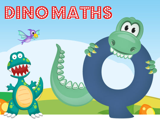 Dino-Math Times Table Activity Packs (Names beginning with Q)
