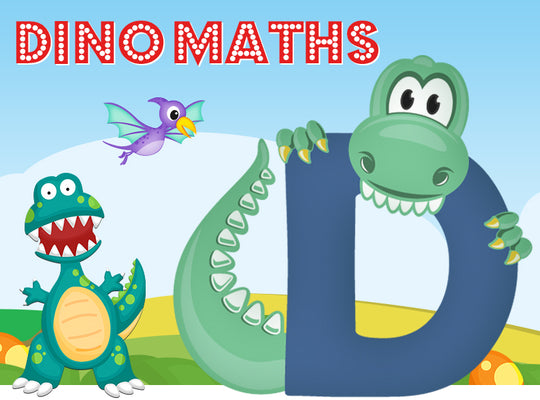 Dino-Math Times Table Activity Packs (Names beginning with D)