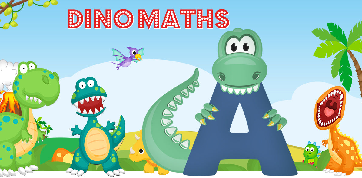 Dino-Math Times Table Activity Packs (Names beginning with A)