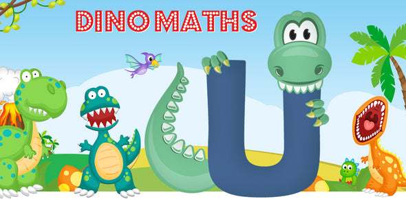 Dino-Math Times Table Activity Packs (Names beginning with U)