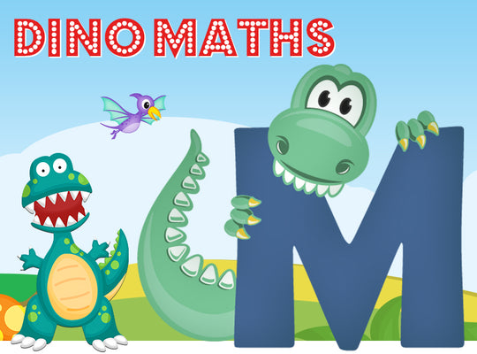 Dino-Math Times Table Activity Packs (Names beginning with M)