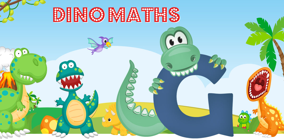 Dino-Math Times Table Activity Packs (Names beginning with G)