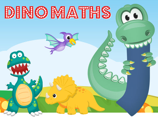 Dino-Math Times Table Activity Packs (Names beginning with J)