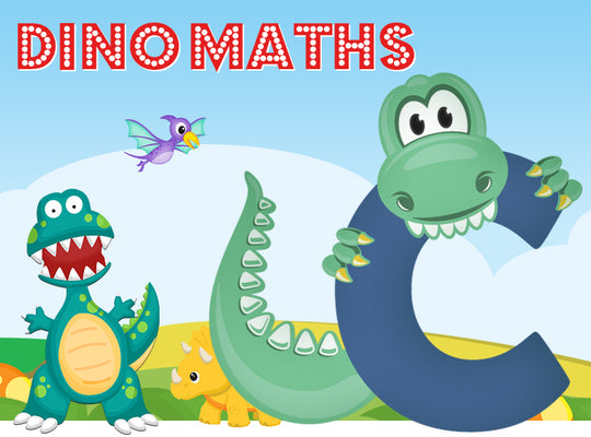 Dino-Math Times Table Activity Packs (Names beginning with C)