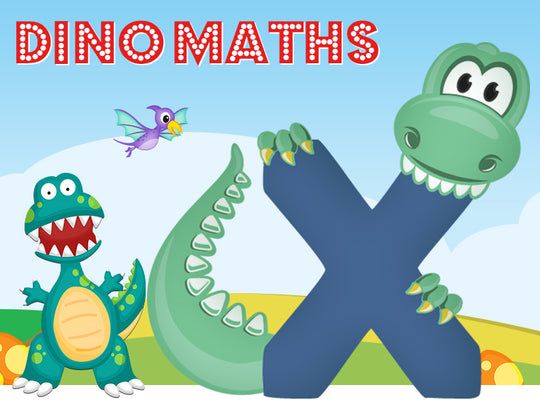Dino-Math Times Table Activity Packs (Names beginning with X)