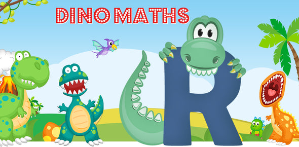 Dino-Math Times Table Activity Packs (Names beginning with R)
