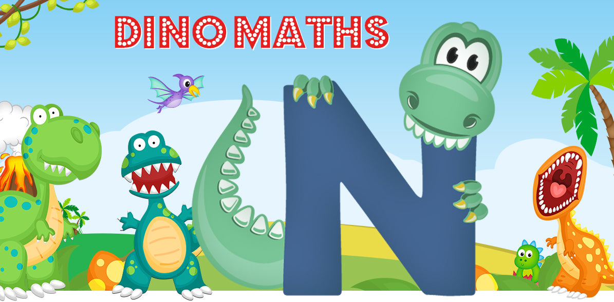 Dino-Math Times Table Activity Packs (Names beginning with N)