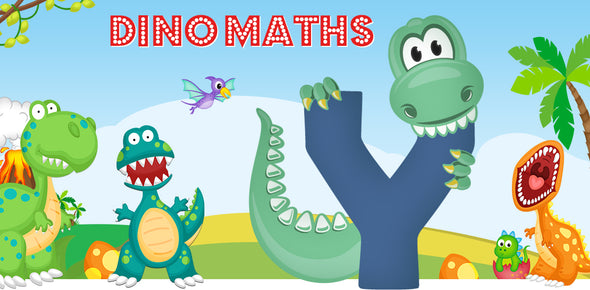 Dino-Math Times Table Activity Packs (Names beginning with Y)