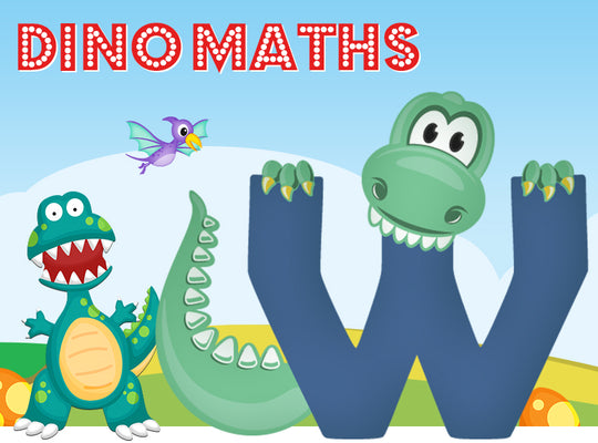 Dino-Math Times Table Activity Packs (Names beginning with W)