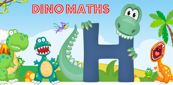Dino-Math Times Table Activity Packs (Names beginning with H)