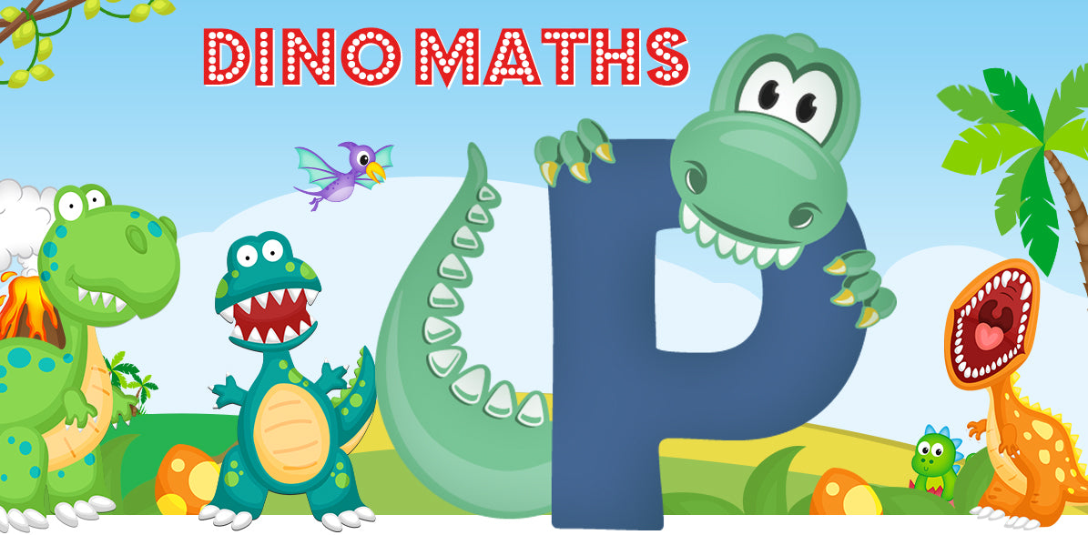 Dino-Math Times Table Activity Packs (Names beginning with P)