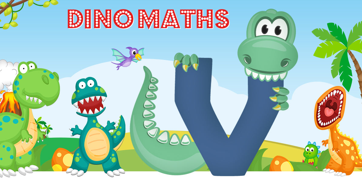 Dino-Math Times Table Activity Packs (Names beginning with V)