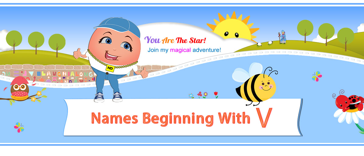 "Humpty's ""Off The Wall"" Nursery Rhymes Names Beginning with V"