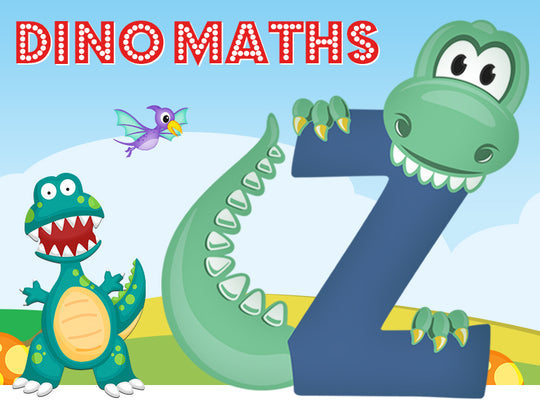 Dino-Math Times Table Activity Packs (Names beginning with Z)