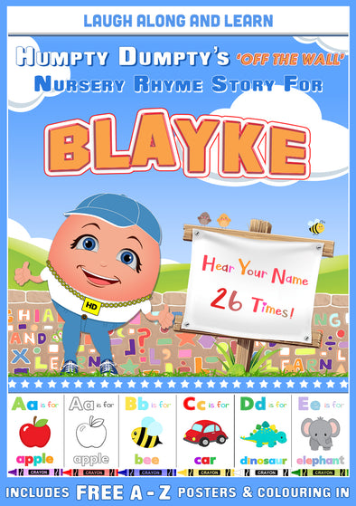 Personalised Nursery Rhyme Story for Blayke