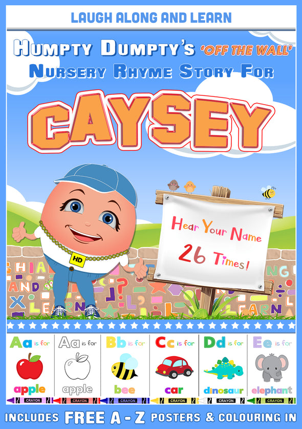 Personalised Nursery Rhyme Story for Caysey (Female Version)