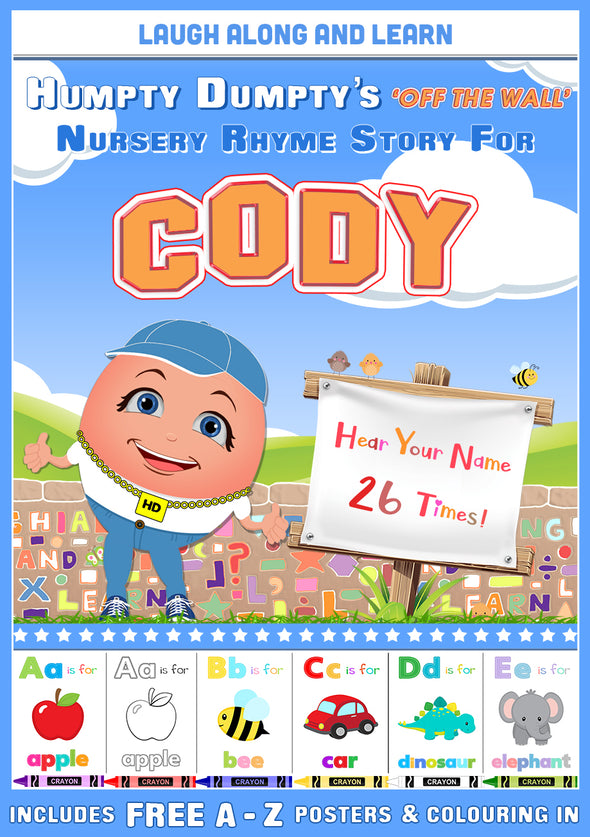 Personalised Nursery Rhyme Story for Cody (Male Version)