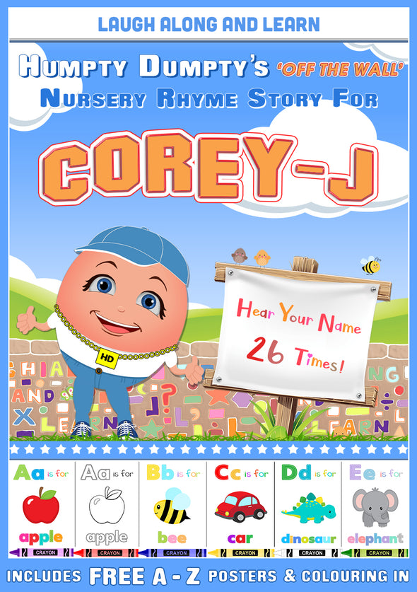 Personalised Nursery Rhyme Story for Corey-J