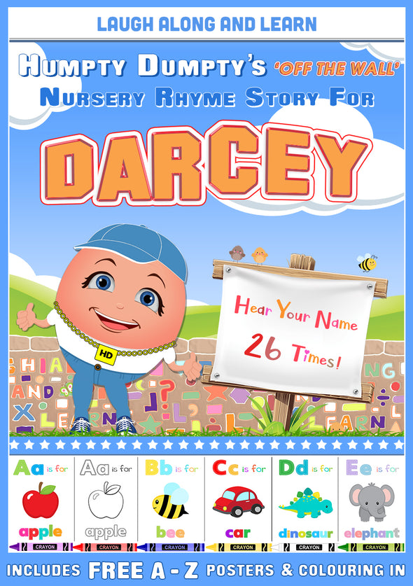 Personalised Nursery Rhyme Story for Darcey (Male Version)