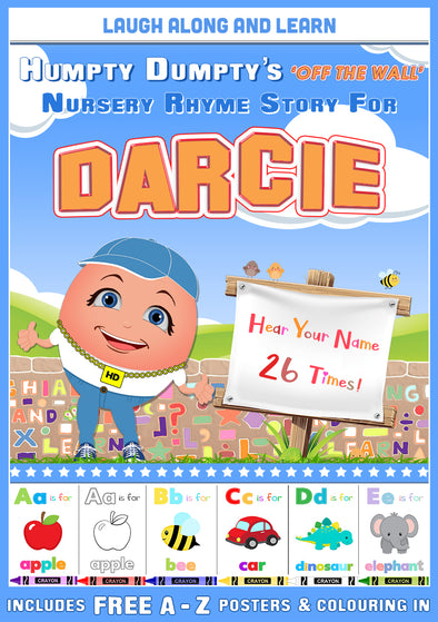 Personalised Nursery Rhyme Story for Darcie (Female Version)