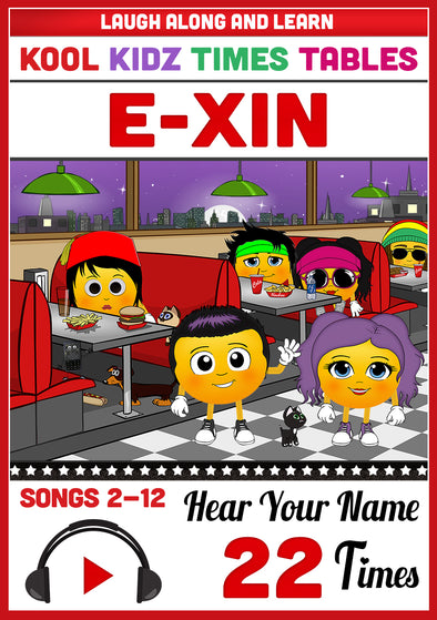 Kool Kidz Personalised for E-Xin (Pronounced as EE-sin)