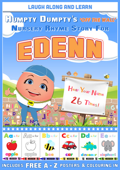 Personalised Nursery Rhyme Story for Edenn (Female Version)