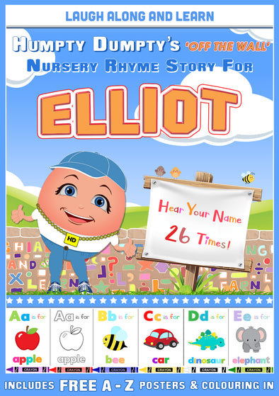 Personalised Nursery Rhyme Story for Elliot (Male Version)