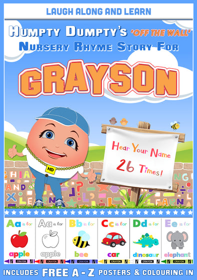 Personalised Nursery Rhyme Story for Grayson