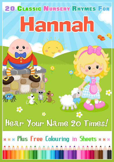 20 Nursery Rhyme Songs Personalised for Hannah