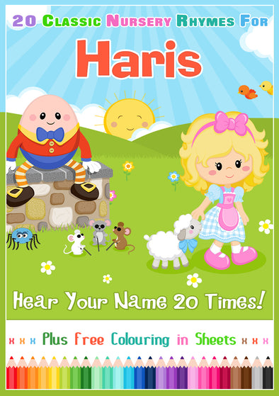 20 Nursery Rhyme Songs Personalised for Haris
