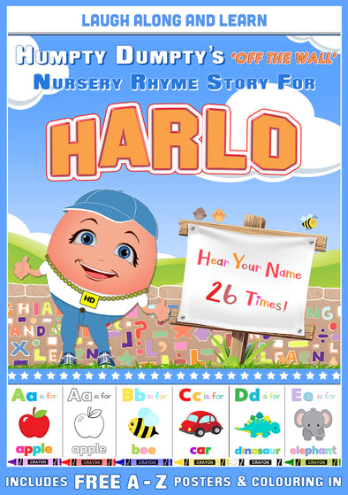 Personalised Nursery Rhyme Story for Harlo (Male Version)