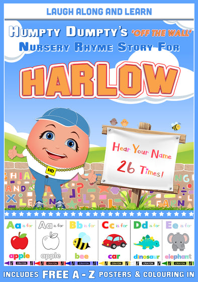 Personalised Nursery Rhyme Story for Harlow (Female Version)