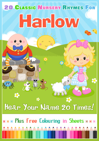 20 Nursery Rhyme Songs Personalised for Harlow