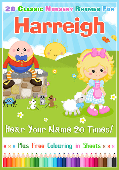 20 Nursery Rhyme Songs Personalised for Harreigh
