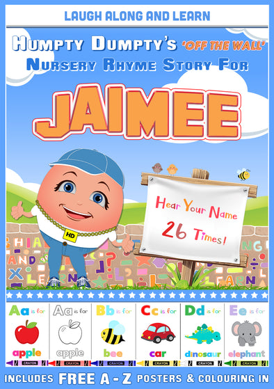 Personalised Nursery Rhyme Story for Jaimee (Female Versionl)