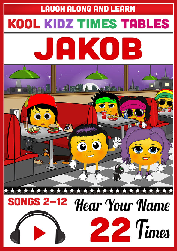 Kool Kidz Personalised for Jakob