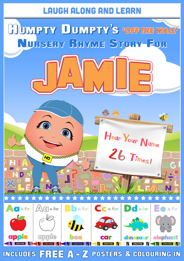 Personalised Nursery Rhyme Story for Jamie (Male Version)