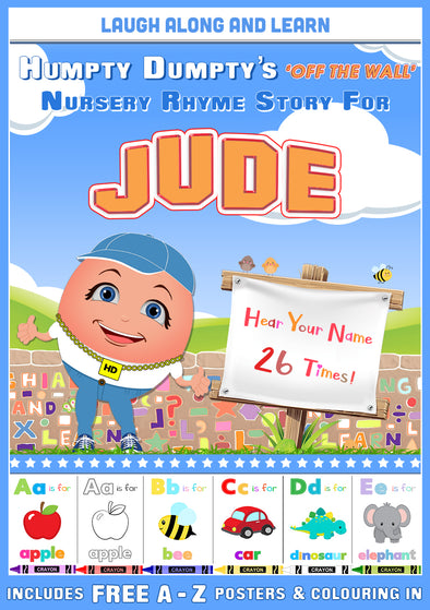Personalised Nursery Rhyme Story for Jude (Male Version)