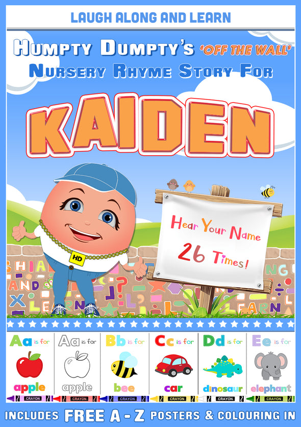 Personalised Nursery Rhyme Story for Kaiden (Male Version)