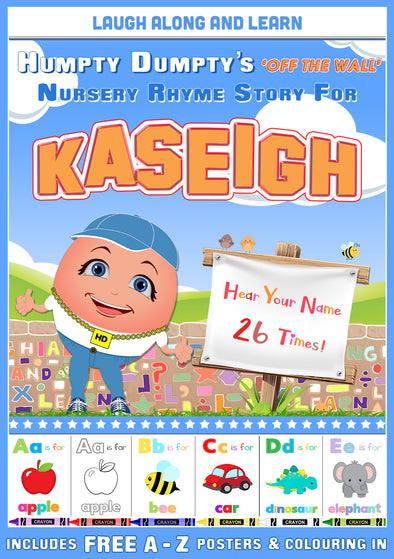 Personalised Nursery Rhyme Story for Kaseigh (Female Version)